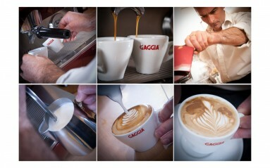 Commercial Photography Example - Barrista pouring coffees