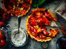 Tomato and Pepper tart, Styled Food Photograph