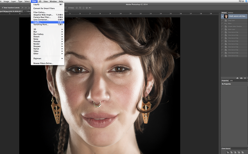 Augmenting Form – Using the Photoshop Liquify Tool in your