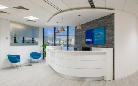 professional photography for sovereign house brighton of reception desk